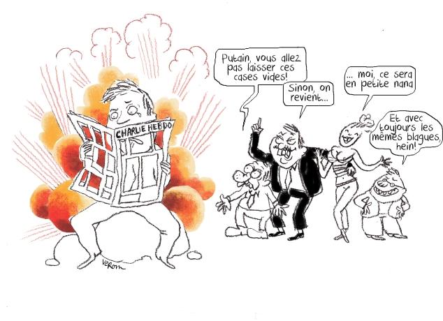 dessin d'hommage aux dessinateurs de Charlie Hebdo -
